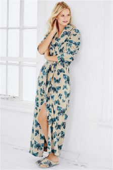 Mink Butterfly Print Robe
