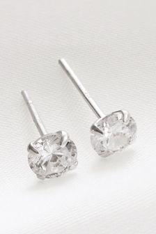 Sterling Silver Sterling Silver Cubic Zirconia Stud Earrings
