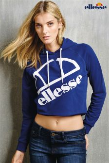 Navy Ellesse Logo Hoody