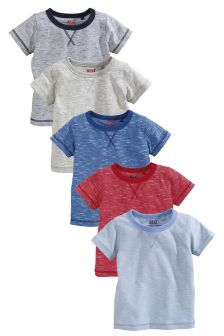 Short Sleeve Essentials Tops Five Pack (3mths-6yrs)