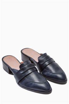 Premium Leather Brogue Mules