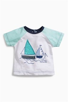 Mint Boat T-Shirt (0mths-2yrs)