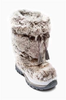 Cream Yeti Boots (Older Girls)