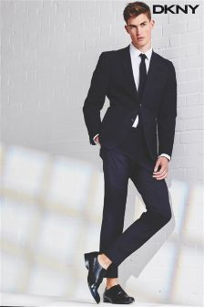 Navy DKNY Slim Fit Cropped Suit