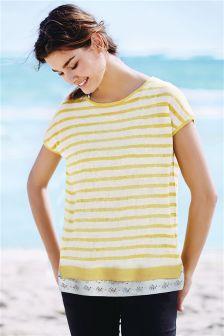 Stripe Linen Mix Two Piece Layer