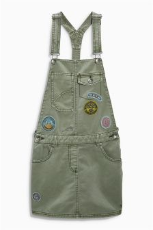 Khaki Badge Pinafore (3-16yrs)