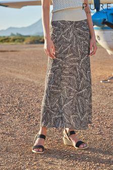 Ochre Ombre Stripe Wallpaper