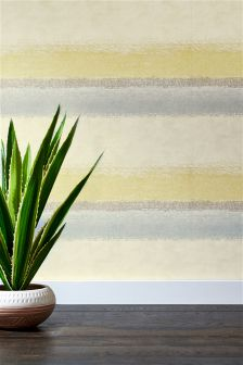 Ochre Ombre Stripe Wallpaper
