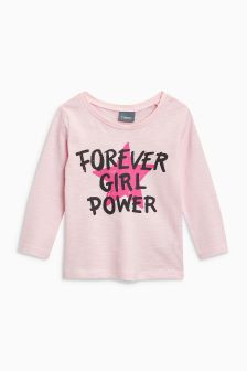 Girl Power Long Sleeve Top (3mths-6yrs)