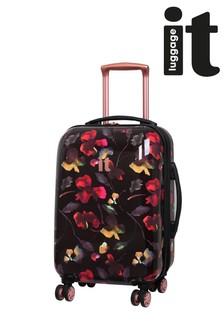 IT Luggage Dark Floral Expander Cabin Case