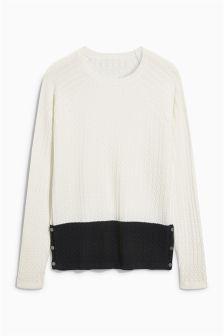 Monochrome Colourblock Sweater
