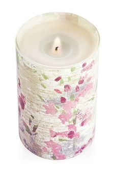 Sweet Pea And Rosehip Glass Pillar Candle