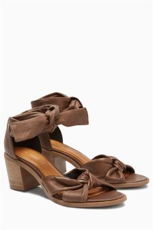 Leather Soft Wrap Sandals