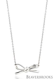Beaverbrooks Silver Bow Necklace