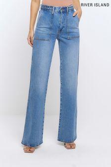 Cream Superdry Stripe Crew Neck Sweater