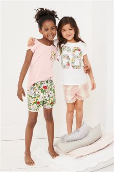 Short Pyjamas Two Pack (3-16yrs)