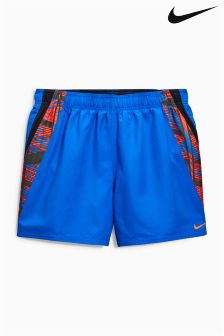 "Nike Blue Swim Atlas 4"" Swim Short"
