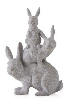 Resin Stacking Rabbits