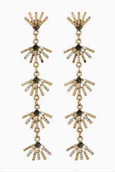 Sparkle Metal Drop Earrings