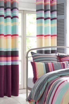 Amalfi Stripe Eyelet Curtains