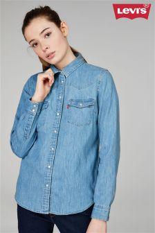 Levi's® Light Wash Blue Denim Shirt