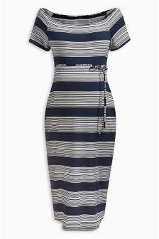Midi Bardot Dress (Maternity)