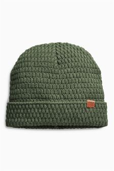 Knitted Slouch Beanie (Older Boys)