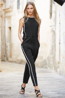 Black Tipped Jumpsuit
