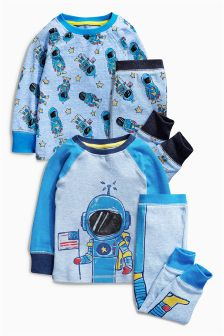 I Am Spaceman Pyjamas Two Pack (9mths-8yrs)