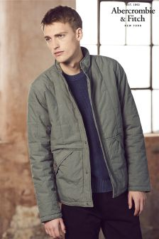 Abercrombie & Fitch Olive Quilted Jacket