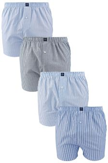 Stripe Woven Boxers Four Pack