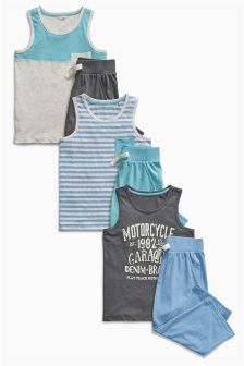 Block Vest Pyjamas Three Pack (3-16yrs)