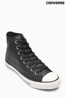 Black Converse Leather Chuck Hi
