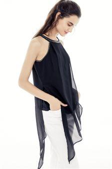 Embellished Asymmetric Tunic