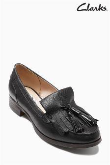 Black Clarks Busby Folly Loafer