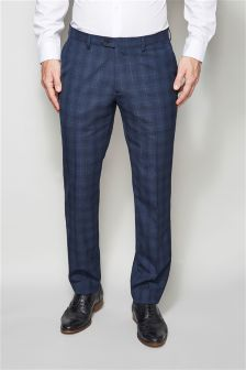 Check Tailored Fit Suit Trousers