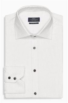 Signature White Pin Dot Shirt