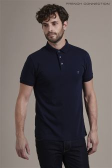 French Connection Navy Plain Poloshirt