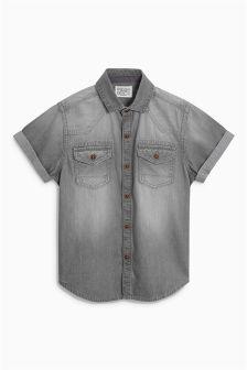 Grey Denim Shirt (3-16yrs)