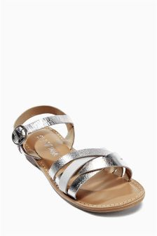 Metallic Leather Sandals (Older Girls)