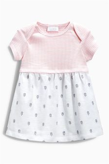 Pink Jersey Dress (0mths-2yrs)