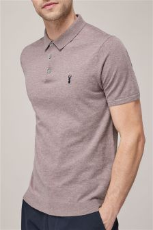 Marl Short Sleeve Knitted Polo