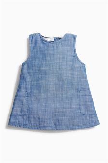 Blue Denim Pinafore Dress (0mths-2yrs)