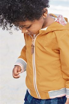 Ochre Hooded Bomber Jacket (3mths-6yrs)