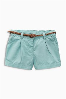 Teal Belted Shorts (3mths-6yrs)