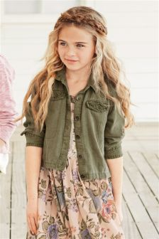 Khaki Lightweight Linen Blend Jacket (3-16yrs)