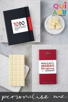 Personalised Notebook And Choc Christmas Gift Set By Quirky Gift Library