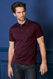 Knitted Collar Poloshirt