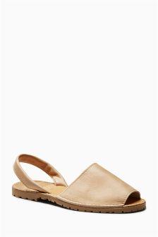 Slingback Peep Toe Sandals