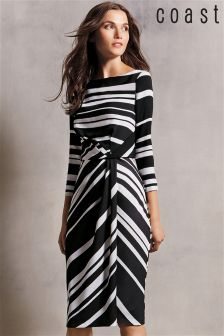 Black & White Coast Jilly Stripe Dress